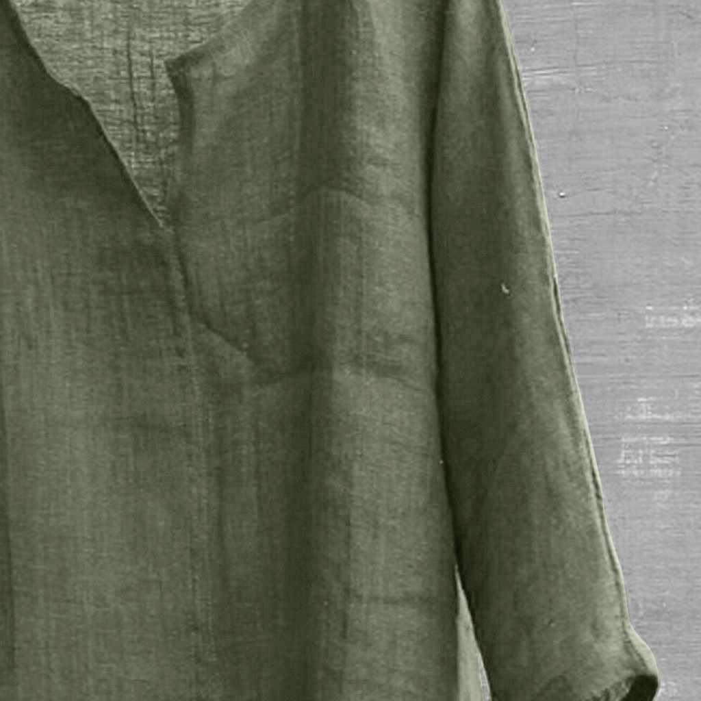 メンズブリーフ通気性の快適な無地長袖ルーズカジュアルシャツブラウス camisas やつリネンシャツ男性カミーサソーシャル新