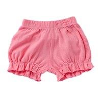 Новые летние для маленьких девочек шорты конфетного цвета хлопок пляжные шорты детские штаны малышей модный бренд одежда новорожденных