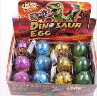 גודל גדול 12 יח'\סט אינפלציה בקיעת ביצת דינוזאור מים סדקים לגדול ביצת צעצועי חידוש צעצועים חינוכיים עבור תינוק
