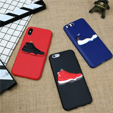 3D AIR Jordan 11 Sports Shoes phone cover case for iPhone X XS XR MAX 8 7 6 6S plus 5 5s se matte soft silicone XS coque fundas(China)