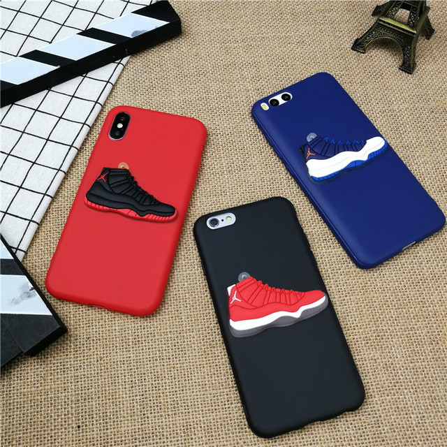 best sneakers 201b5 2e3ae US $1.63 18% OFF|3D AIR Jordan 11 Sports Shoes phone cover case for iPhone  X XS XR MAX 8 7 6 6S plus 5 5s se matte soft silicone XS coque fundas -in  ...