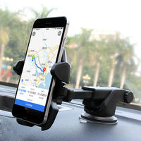 Universal 360 Rotation Car Mount Holder Cell Phone Cradle With Suction Cup Quick Release Button For