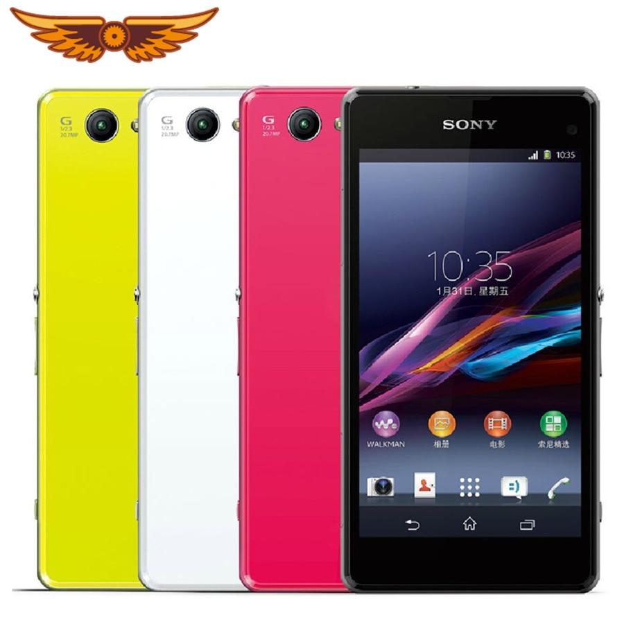 Оригинальный сотовый телефон Sony Xperia Z1 Compact D5503, 3G/4G, Android, четырехъядерный, 2 Гб ОЗУ, экран 4,3 дюйма, камера 20 МП, Wi-Fi, GPS, память 16 Гб