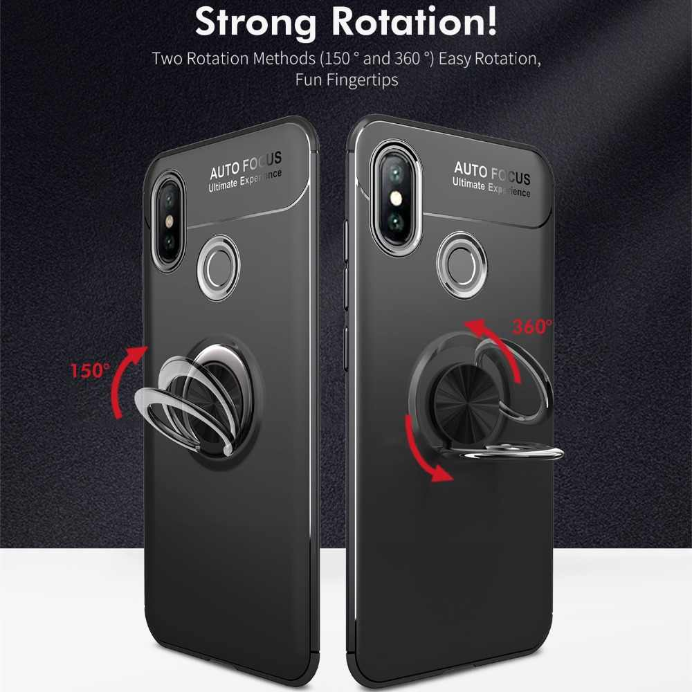 Case Voor Xiaomi Redmi Opmerking 4 5 6 8 Lite Pro SE Mix Max 2 3 4A 4X Prime Ring houder Metalen Magnetische Auto Stand Telefoon POPC F1 Cover