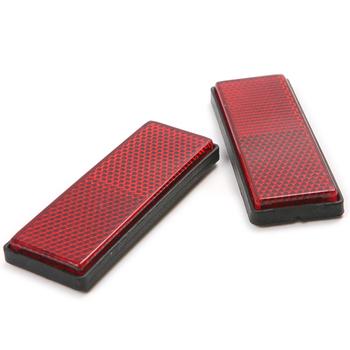 4x samochód motocykl ciężarówka odblaskowa płyta naklejka czerwone plastikowe blachy na ostrzeżenie o bezpieczeństwie 87*32*11mm tanie i dobre opinie CN (pochodzenie) Paski odblaskowe