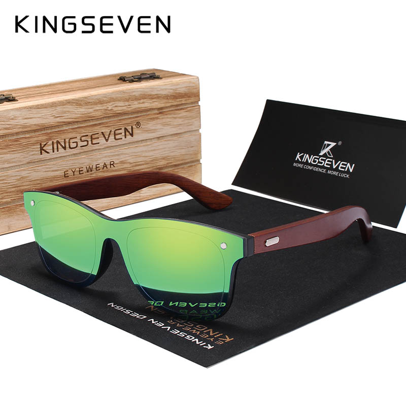 KINGSEVEN Brand Rosewood Design Luxury Sunglasses Women Original Wood Handmade Sun Glasses Man Fashion Vintage Style