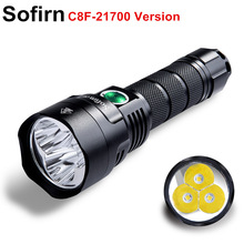 Sofirn New C8F 21700 Version Powerful LED flashlight Triple Reflector Cree XPL 3500lm Super Bright Torch with 4 Groups Ramping