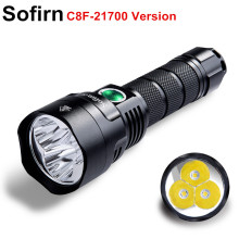 Sofirn LED Flashlight 3500lm Triple-Reflector Powerful Super-Bright-Torch C8F 21700-Version