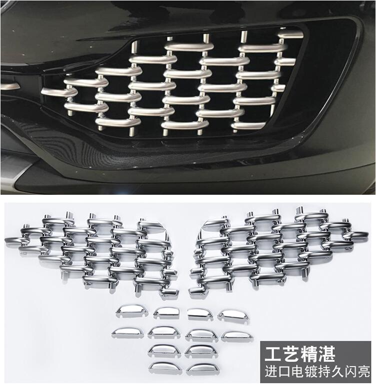 CAR Front Fog Lamp bumper Air Vent Mesh Grille Grills FOR Maserati Levante 2016 2017 2018 Free shipping