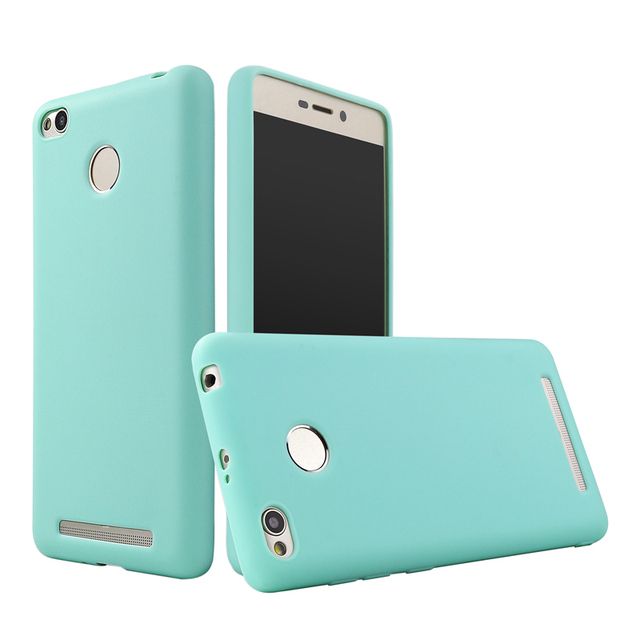 online store 4ee15 42cf5 US $1.99 |Silicone Case For Xiaomi Redmi 3 S 3S Pro Prime Cover Funny Cute  Candy Color Thin Soft TPU Rubber Back Cover-in Half-wrapped Case from ...