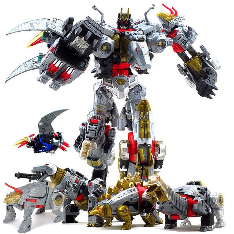Image 1 - G1 BPF Transformation Dinoking Volcanicus Grimlock Slag Sludge Snarl Swoop slash Dinobots 5IN1 Action Figure Robot Toys-in Action & Toy Figures from Toys & Hobbies