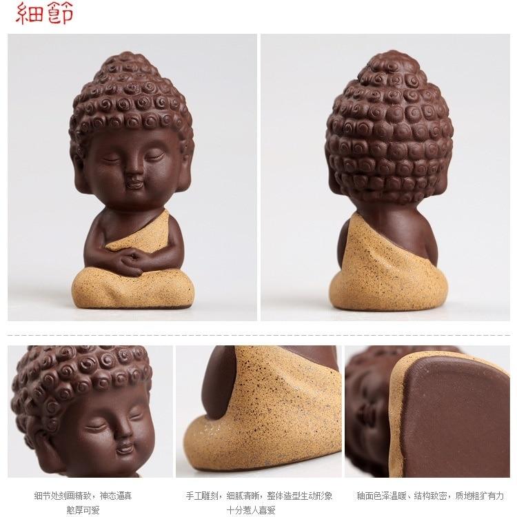 Küçük Buda heykeli keşiş heykelcik tathagata Hindistan Yoga - Ev Dekoru - Fotoğraf 6