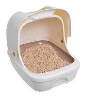 Пластик туалетов коробка кошачий Туалет Training Cofre закрытым Gato продукты для Товары для кошек песочница pet горшок туалете Крытый поставок qqv759