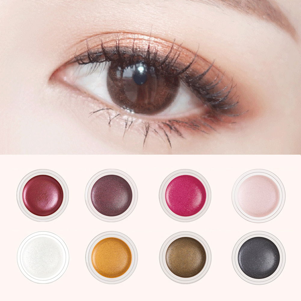 Beauty & Health Niceface Single Color Shimmer Eyeshadow Cream Waterproof Long Lasting White Eye Liner Gel Black Blue Highlighter Cream Ae050