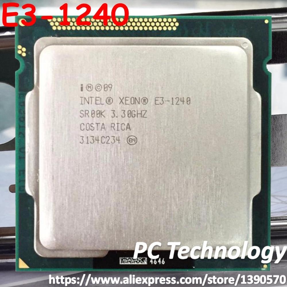 Original Intel XEON E3 1240 SR00K Quad core 3 3GHz 8MB Cache E3 1240 LGA1155 CPU