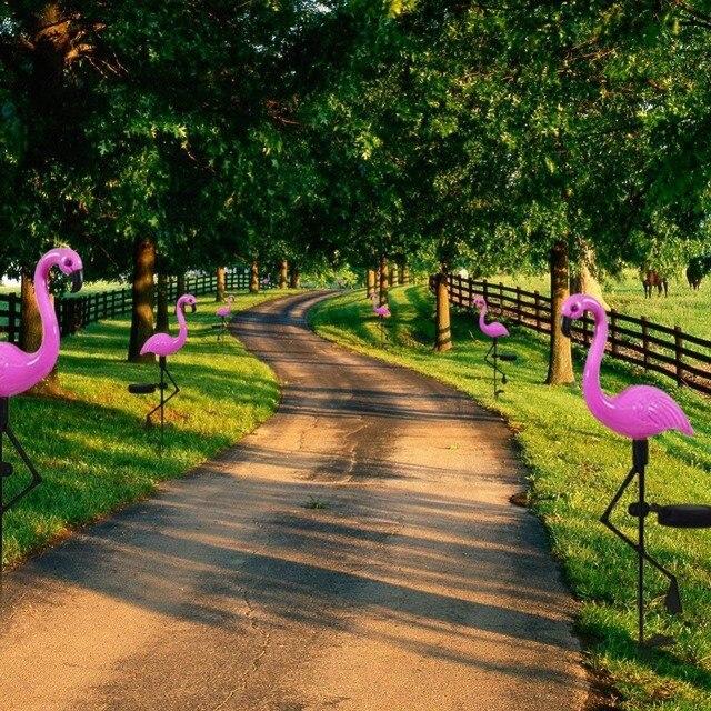 LED Solar Flamingo Light 4
