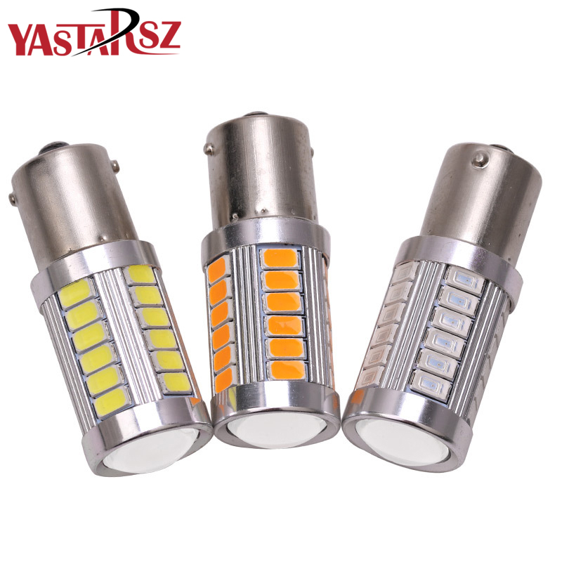 1pcs 1156 P21W BA15S 33 SMD 5630 5730 LED Car Backup Reserve Light Motor Brake Bulb Daytime Running Light White Red Orange Amber 3156 3w 1 smd led red light car steering backup light 12v