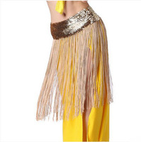 New Style Belly Dance Costumes Sequins Tassel Belly Dance Hip Scarf For Women Belly Dancing Belts