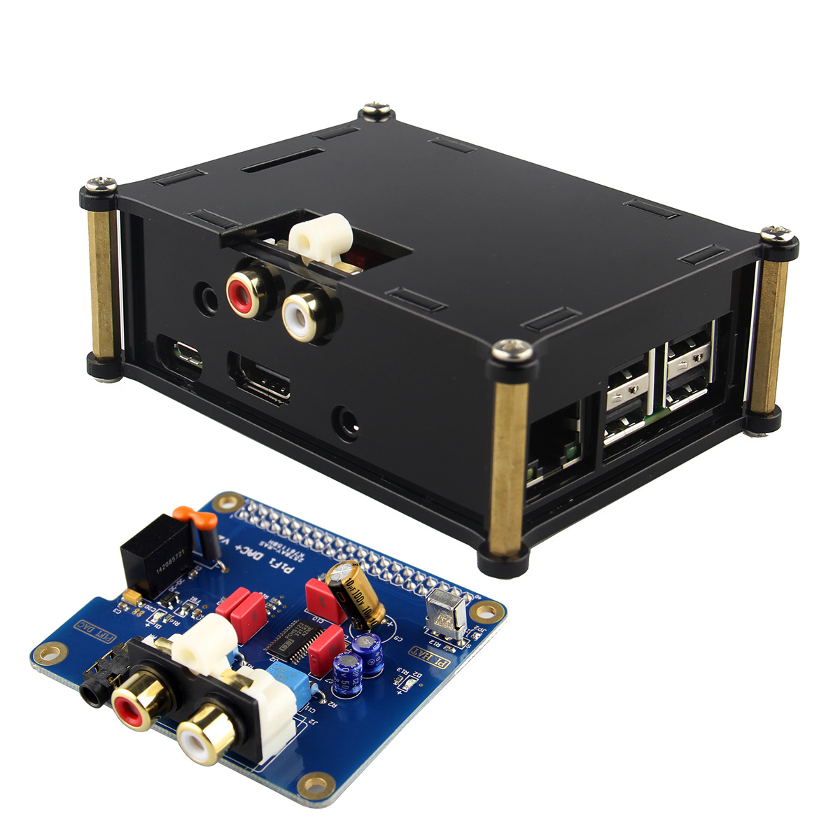 LEORY Digital Audio Card Pinboard HIFI DAC+ With Case For Raspberry Pi 2 Model B / B+ / A+ Volumio system