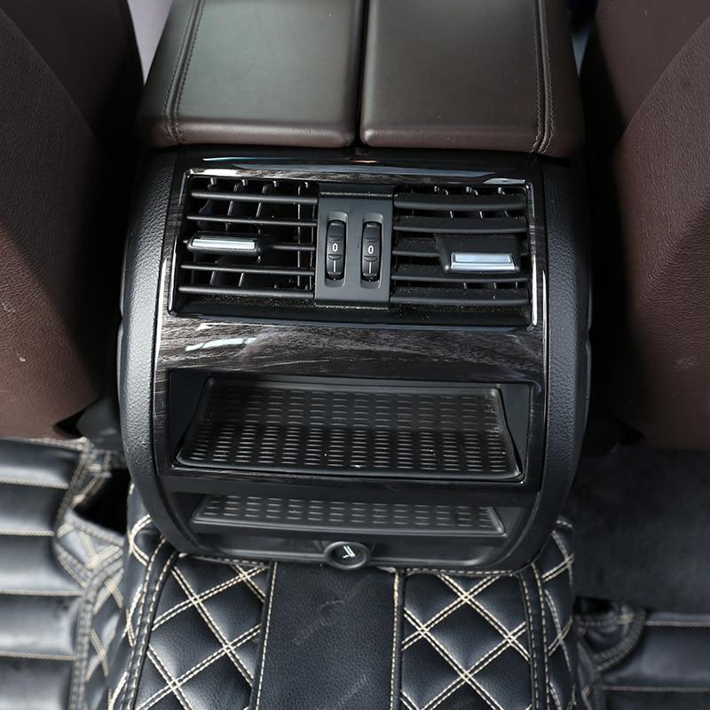 Темный золы древесины ИНТЕРЬЕР АКСЕССУАР ABS пластик задний ряд Кондиционер Выход отделка наклейка для BMW 5 серии f10 520 525 20
