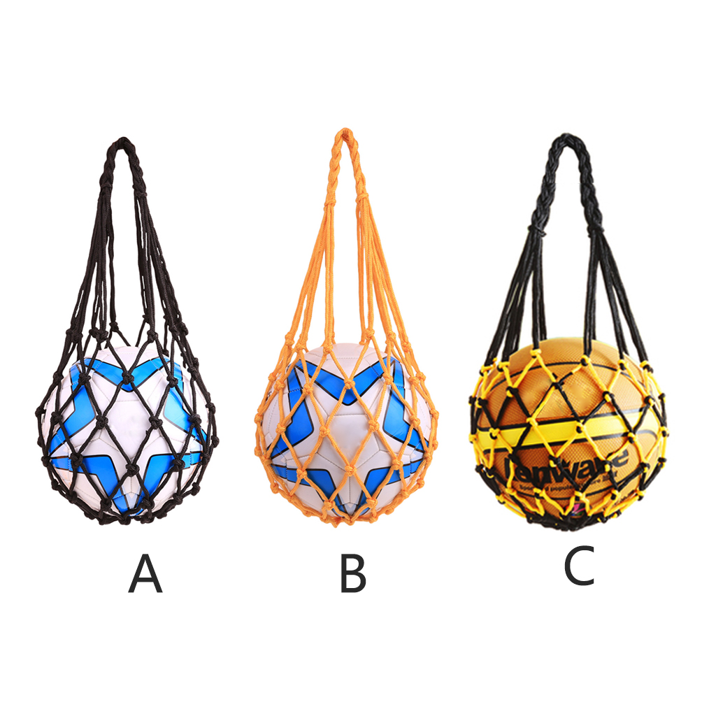 Weaving Polyester Net Bag Portable Football Basketball Volleyball Sport Mesh Bag