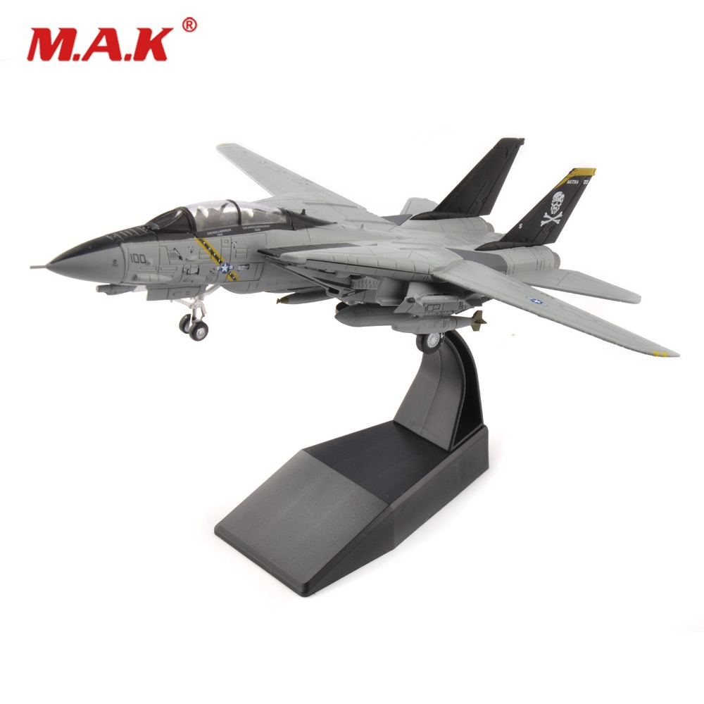 kids toys 1/100 Diecast Air Force USA Grumman F-14 Tomcat Fighter VF-84 Jolly Rogers Fighter Diecast Metal Plane model аэрострел 1 toy т56150 air fighter