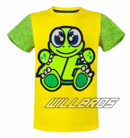90adb848667 US $13.55 |Moto GP Kids T Shirt Large Signature the doctor Yellow T'Shirt  for Motorcycle Sports Quick drying Outdoor green top-in Shirts & Tops from  ...