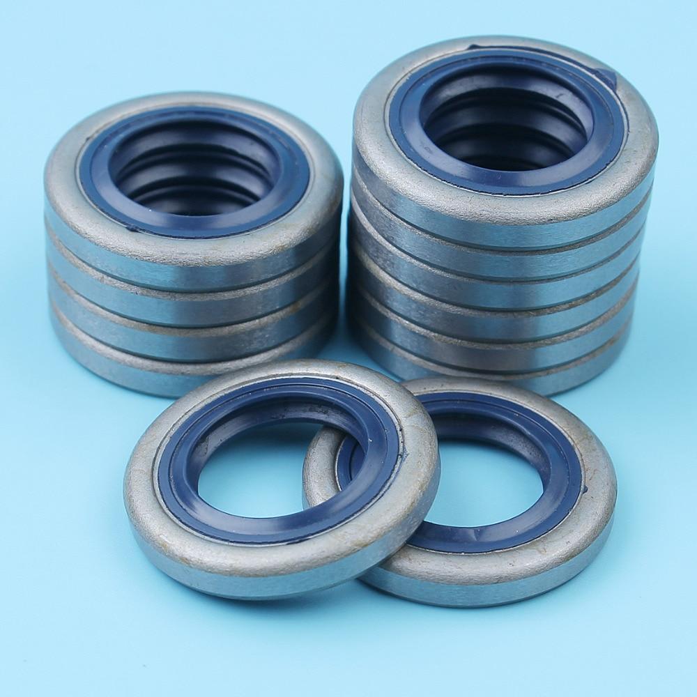 12Pcs/lot Crank Oil Seal For Husqvarna 51 55 254 257 262 357 359 351 346XP Jonsered 2041 2045 2050 2159 GR 41 Saw # 505 27 57-19