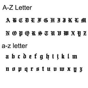 Image 2 - DOREMI 2019 Old English Numbers naszyjnik niestandardowy napis Choker naszyjnik personalizowany z literami dla dziewczyny Gothic elegancka biżuteria