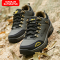 ZHJLUT New Fashion Men's Climbing Casual Shoes Waterproof Mens winter Plus Size Leather Shoes 816