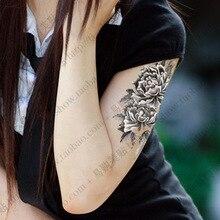 Large Flower  tattoo Sticker  Arm Sex temporary tattoo Stickers for  Women Waterproof  Sticker  tattoo Body Art