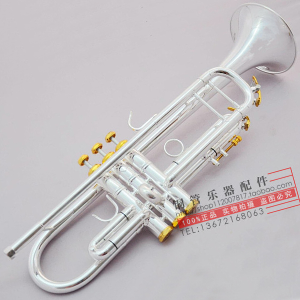 Bach Bb Trumpet Lt180s-43 Silver Plated Gold Keys Music Instruments Profesional Trumpets Student Case Mouthpiece Accessories Discounts Sale Back To Search Resultssports & Entertainment Musical Instruments