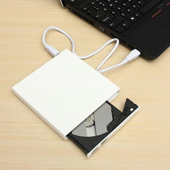 Thin USB 2.0 External Combo Optical Drive CD/DVD Player CD Burner for PC Laptop Office & School Supplies