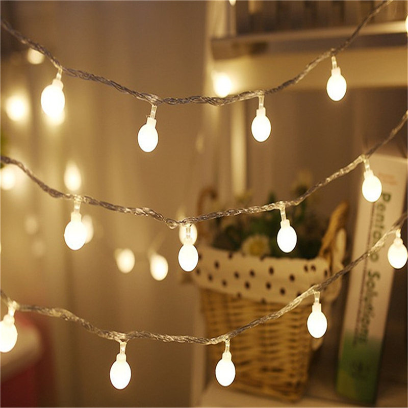10M 100LEDS holiday led string light 110-220V ball led string light outdoor Wedding Part ...