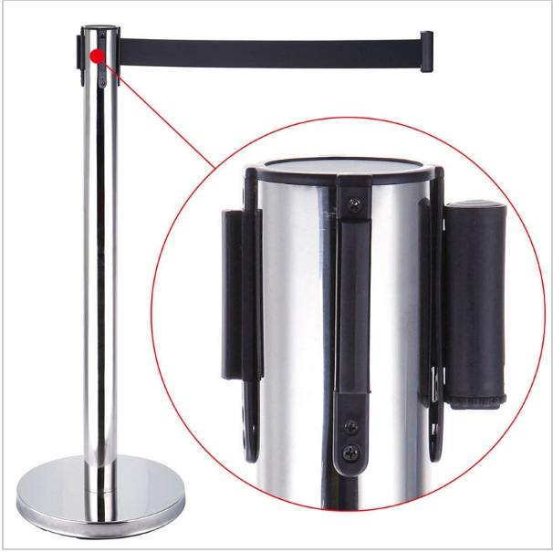 2018 SHIP FROM CA 2 Pack Retractable Crowd Control Stanchion Queue Barriers Post Black Strap Belt low price for 2 pcs hotel 3m retractable belt vip crowdcontrol retractable tensa barriers queue way post