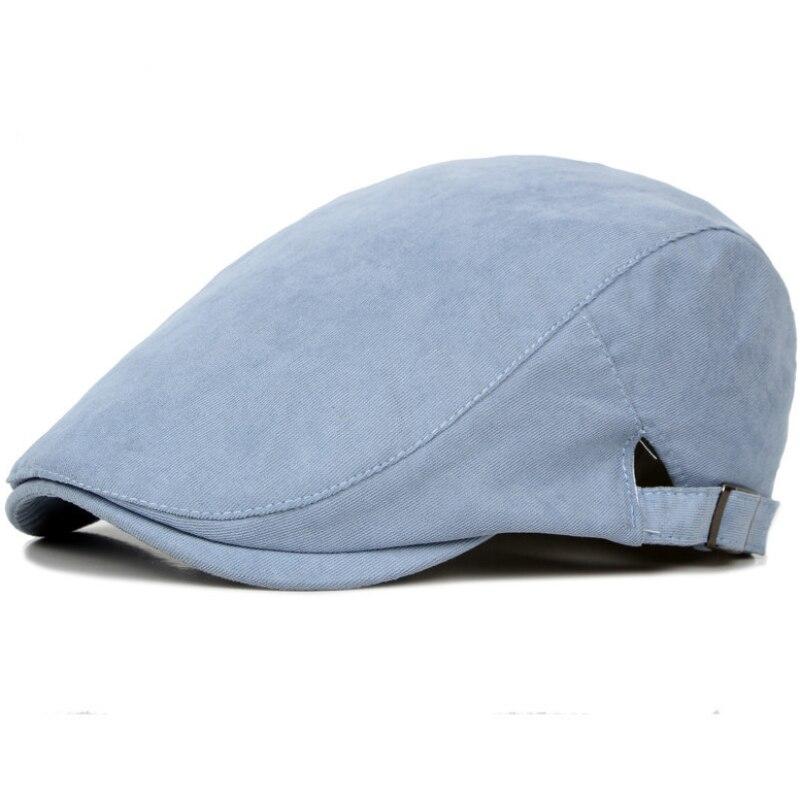 HT752 Sommer Sonne Hüte für Männer Klassischen Westlichen Zeitungsjunge Caps frau Baumwolle Mischung Ivy Caps Flache Krempe Einstellbar Männer Baskenmütze Mütze