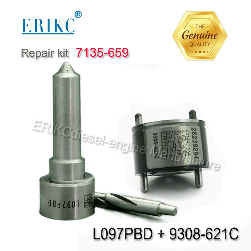 7135 659 Injector Repair Kits Valve 9308 621C 28239294 Nozzle L097PBD for EJBR02301Z EJBR03601D EJBR01901Z EJBR02801D EJBR00901Z-in Fuel Injector from Automobiles & Motorcycles