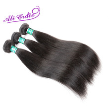 ALI GRACE Hair Peruvian Straight Hair Natural Color 100% Remy Human Hair Weave 1 Bundle 10-28 inch Free Shipping(China)