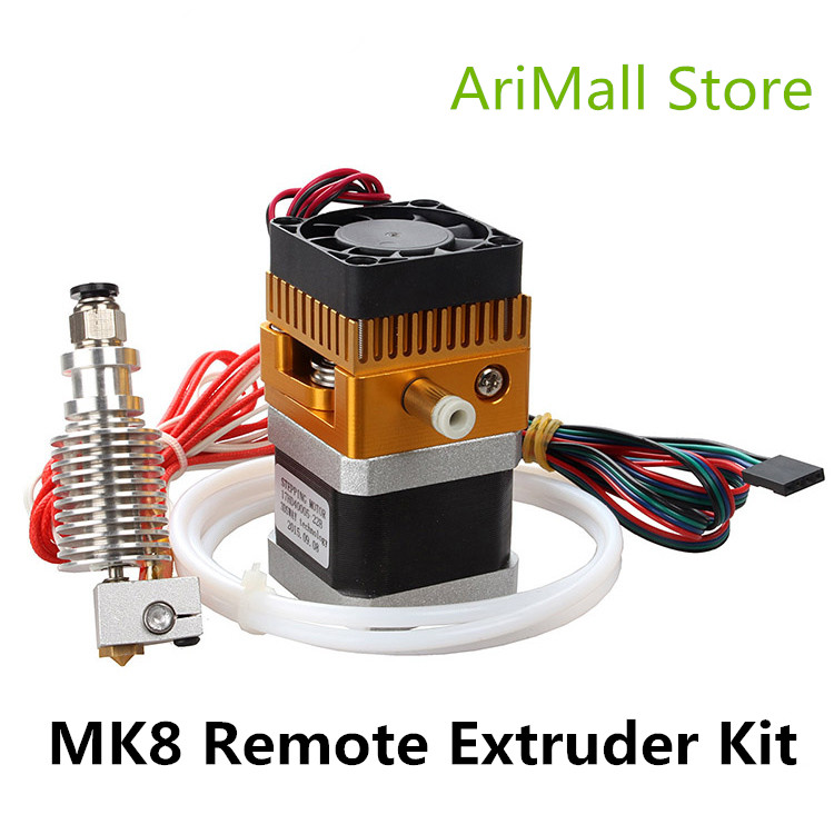 3D Printer parts Newest MK8 Extruder Kit with 3D V6 Hotend teflon feed pipe set Extruder J head 1.75mm