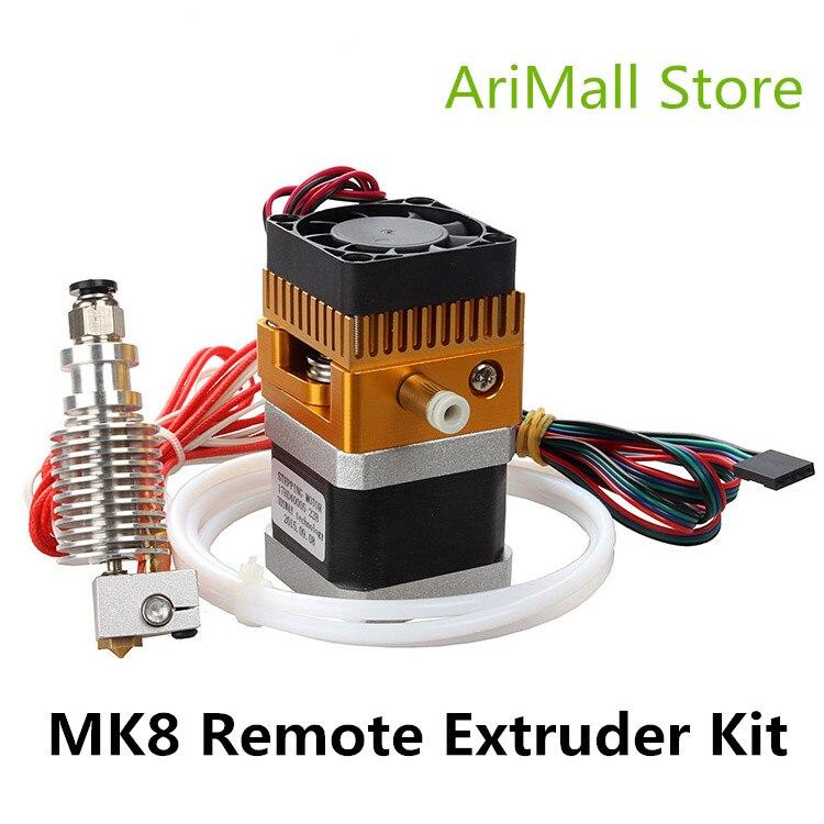 Imprimante 3D pièces plus récent Kit d'extrudeuse MK8 avec 3D V6 Hotend téflon tuyau d'alimentation ensemble extrudeuse J tête 1.75mm