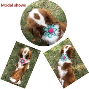 Image 3 - 100pcs 2019 New Spring Pet Supplies Sun flower Pet Dog Cat Bowties Neckties Samll dog Cat holiday Grooming Accessories