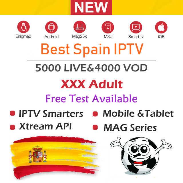 Лучший Испания IP ТВ подписка на испанском языке канал M3u Abonnement Франция Турция Португалия спортивные Android tv Box Enigma2 M3U Смарт ТВ ПК