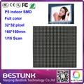 P5 крытый светодиодный дисплей модуль 32*32 пикселей 16 s для крытый p5 светодиодные рекламные видео-стена крытый двойной двухсторонний светодиодный экран