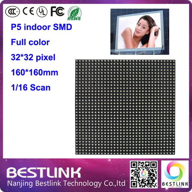 P5 interior levou módulo de tela 32*32 pixel 16 s para p5 interior levou parede de vídeo de publicidade interior duplo lados da tela levou