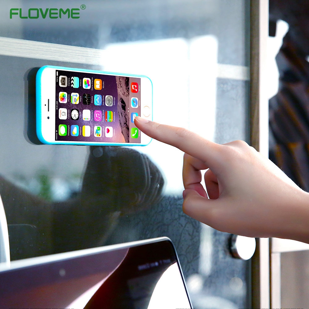 FLOVEME Anti gravity Case For iPhone 6 6s 7 Plus Anti Gravity Cover For Samsung S6 S7 S8 Edge Note 5 Adsorbed Antigravity Cases
