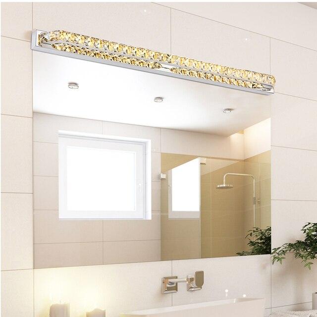 Luxury 100cm Long Waterproof Crystal Wall Light Over Mirror 110v 220v 26w Led Bathroom Lamp Indoor Lampada