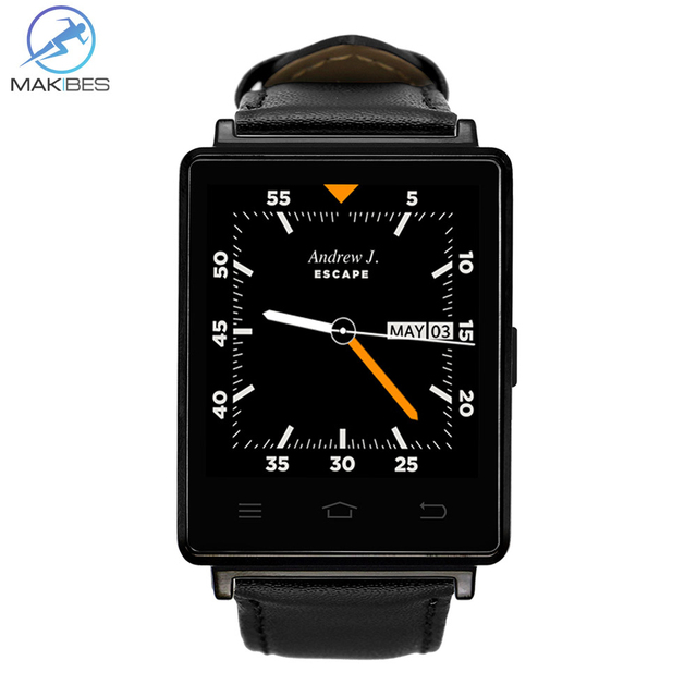 No.1 D6 3G Smart Watch Phone Android 5.1 MTK6580 Quad Core 1.3GHz 1GB RAM 8GB ROM 1.63 inch WiFi Bluetooth 4.0 GPS smartwatch
