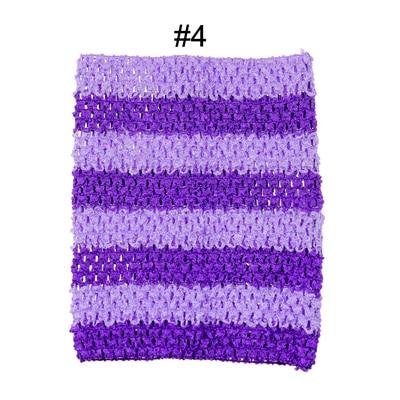 Вязанная крючком юбка-пачка для маленьких девочек, 9 дюймов, топы-трубы, обхват груди, широкая вязаная крючком, топы, юбка-пачка «сделай сам», платье, поставщик - Цвет: purple stripe top
