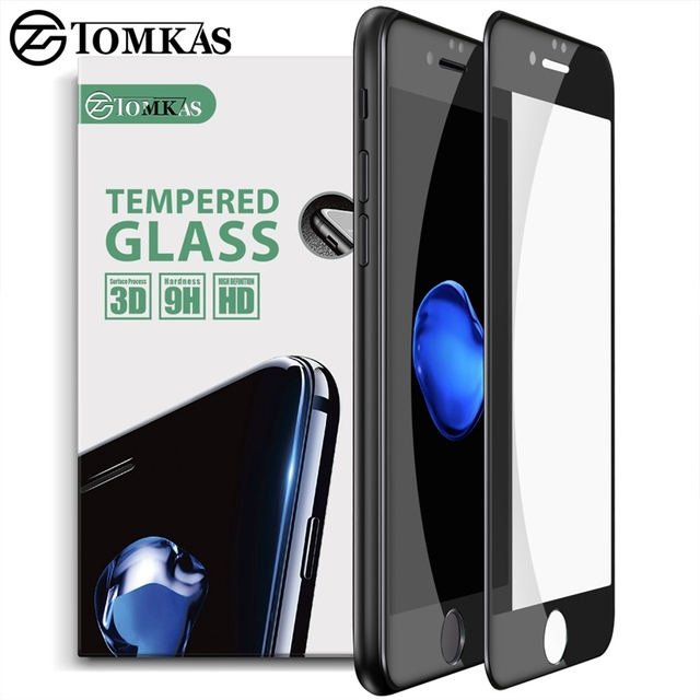 quality design 2398c 05757 US $4.99 50% OFF|TOMKAS 3D Tempered Glass For iPhone 7 7 Plus Screen  Protector Ultra thin 0.2mm Scratch Proof Film For iPhone 7 Tempered  Glass-in ...
