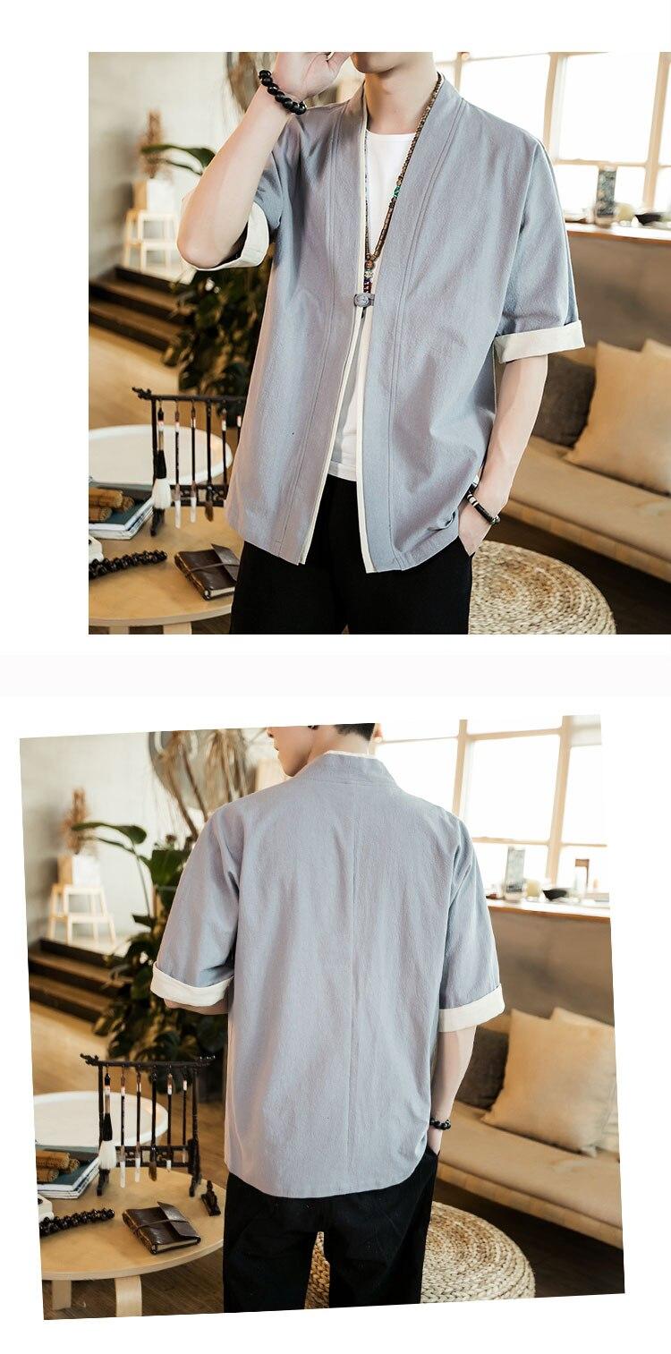 HTB1ynd6tuGSBuNjSspbq6AiipXaF 2019 Men Cotton Linen Jacket China Style Kongfu Coat Male Loose Kimono Cardigan Overcoat Open Stitch Coat Mens Windbreaker 5XL
